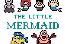Disney Princess - The Little Mermaid / Hama beads - perle beads  - Disney. .  Ariel - Eric - fish - Mermaids -