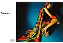 Valentino 2014 AW Editorial -1 / Green and Red Circular Print Leather Cape