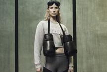 H&M x Alexander Wang 2014 AW Editoroals -1 / Grey or Black Short Scuba Top