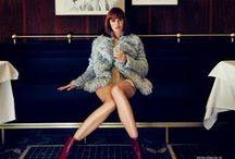 Gucci 2014 AW Editorials -2 / Light Blue Shearling Coat