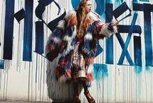 Marni  2014 AW Editorials / Big Collar Colored Shearling Coat