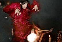 Prada 2014 AW Editorials -1 / Red Goats Hair Dress