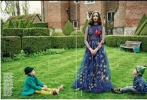 Valentino 2014 AW Editorial -2 / Navy Tulle Embroidered Heart Dress