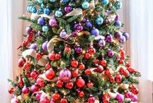 Colourful Christmas Trees
