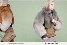 Marc Jacobs 2014 AW Editorials -1 / Camel  / Grey  / Mauve Degrade Fox Cropped Bomber Jacket