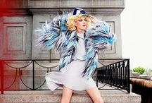 Emporio Armani 2014 AW Editorials / Multi-color Fur Coat