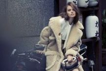 Coach 2014 AW by Stuart Vevers Editorials -2 / Beige Shearling Coat