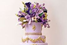 Lilac and Purple Wedding Cakes