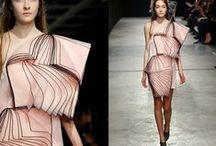 Christopher Kane 2014 AW Editorials / Pink One Shoulder Layered Organza Dress