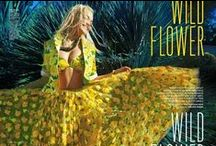 Michael Kors 2015 SS Editorials -1 /  Yellow Marigold Floral Embroidered Tulle Skirt