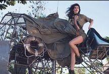 Ralph Lauren Spring 2015 Editorials / Shimmery Green Metallic Silk Charmeuse Maxi Dress