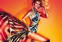 Roberto Cavalli Spring 2015 Editorials -1 / Zebra Printed Silk Dress