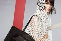 Akris 2015 SS Editorials / White Squares Cutouts Trench Coat