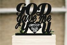 wedding decoration / Wedding cake topper, God Gave Me You CakeTopper, Wedding decoration, Cake decor, always and forever cake decoraion