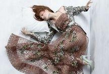 Alberta Ferretti 2015 SS Editorials -1 / Crochet Maxi Dress with Flowers