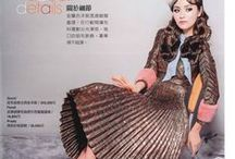 Gucci 2015 AW Editorials -1 / Zig-zag Lurex Plissé Dress with Mink Fur Trimmings and Silk Satin Georgette Scarf
