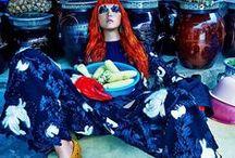 Céline 2015 AW Editorials -1 / Wide-Leg Trousers With Broken Floral Appliqués