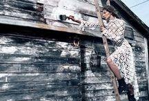 Stella McCartney 2015 AW Editorials / White Marguerite Daisy Flowers Lace Dress