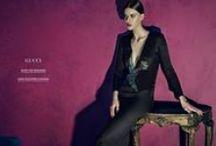 Gucci 2015 AW Editorials -2 / Black Bird-Embroidery Silk Gown