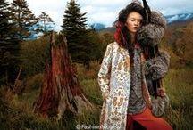 Céline 2015 AW Editorials -2 / Big Fur Pompoms Scarf