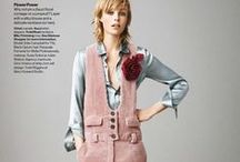 Chloé 2015 AW Editorials -1 / Smoked Pink Corduroy Overalls