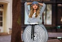 Jean Paul Gaultier Couture 2015 Fall Editorials / Navy Striped Dress