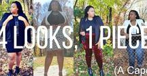 4 Looks, 1 Piece ( A Cape) / 4 fabulous looks from the 4 Looks, 1 Piece series ( A Cape)  over at Nothing Minus About a Plus!