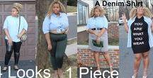 4 Looks, 1 Piece ( A Denim Shirt)