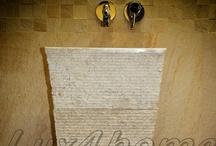 Umywalki kamienne / Umywalki kamienne z realizacji i oferty Lux4home™. Więcej na http://www.Lux4home.pl