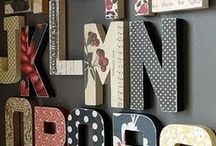 May: 3D decoupage letters