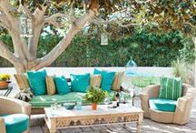 Garden inspiration  / I love garden pretty garden lights and happy bright colours so am collecting as many ideas as possible and will hopefully include some into my garden....