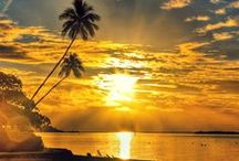 Sunsets over Tahiti / Sunsets in general are romantic...but paired with the beauty of the Islands of Tahiti, they are just breath-taking!