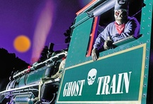 Catch a Halloween train! / Spooktacular rail events include pumpkin patch trips, kid-friendly costume excursions, and haunted ghost trains. Find a halloween train near you at: http://www.traintraveling.com/halloween
