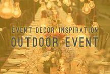 Outdoor Event / Event Decor Inspiration / The outdoors can create unique party opportunities and large parks, backyards, and verandas often provide the perfect space.  Best of all, good weather energizes people. Let us help you create an outdoor event that is filled with good food, great music, and an upbeat environment that your guests will never forget.   AtlastaCatering.com
