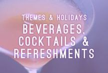 Beverages, Cocktails & Refreshments / Themes & Holidays / Let's be honest! It is not a party without refreshments and drinks. At Atlasta, we specialize in creating a menu that features custom cocktail and beverage options.   AtlastaCatering.com