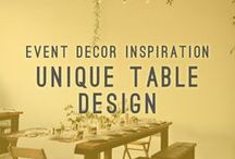 Unique Table Design / Event Decor Inspiration / Atlasta Catering specializes in making one of a kind table settings. Let us bring your vision to life and assist with seat arrangements and table top decor.   AtlastaCatering.com