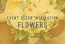 Flowers / Event Decor Inspiration / We created this flower filled Pinterest board to help inspire you!  From weddings to corporate events, flowers can set the tone, and even make a small budget look like a large budget.