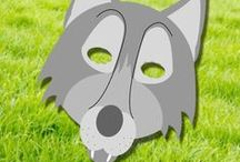 Free Printable Animal Masks (Templates) / Free printable animal mask templates for kids (and adults) to play with. Perfect for Halloween or any other playful day!