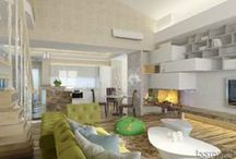 Interier bytu 205 m2. / Дизайн интерьера квартиры. Архитектор Ирина Рихтер. INSIDE-STUDIO Prague