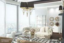 Penthouse interior. Интерьер квартиры 265 m2. / Дизайн проект интерьера квартиры. Гостиная