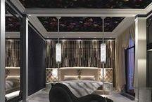 Готическая спальня / Интерьер спальни в готическом стиле. Дизайн проект интерьера. Архитектор дизайнер Ирина Рихтер INSIDE-STUDIO Prague