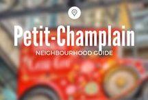 Petit-Champlain / Shop along the oldest shopping street in Québec City - and Canada!!