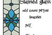 Stain glass in peyote beads