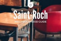 Saint-Roch / Trendy cafés, fashion boutiques, micro-restaurants, and some of the BEST pizza you'll find in Québec; Saint-Roch is one of our favourite local hotspots in Québec City.