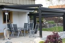 Pergole UNICA 165  / Pergole retractabile cu structura din aluminiu, pergole Gibus Italy pentru terase, restaurante, gradini, piscine s.a.m.d