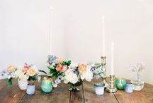 floral centerpieces & decor. / arrangements. centerpieces. vases. mason jars. collections. / by Angelena Moio | Shindig Chic