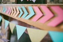 BUNTINGS, BANNERS & GARLANDS / This board is filled with both DIY and store-bought buntings, banners and garlands -- great accessories for the home or party that add a pop of surprise!
