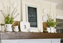 MANTELS/FIREPLACES / We all need a little inspiration for our fireplace/mantel decor, and you'll see some beautiful decor on this board!