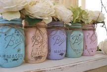 ♥ Mason Jar Ideas / The endless possibilities of using mason jars.