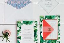 The Courtney Suite - Wedding Inspo / Our curated board of wedding inspiration to compliment the Courtney Suite // Inclosed Letterpress Co. Custom Wedding Collection // Letterpress Invitations // Fresh + Bohemian + Tropical  //  Wedding Inspiration